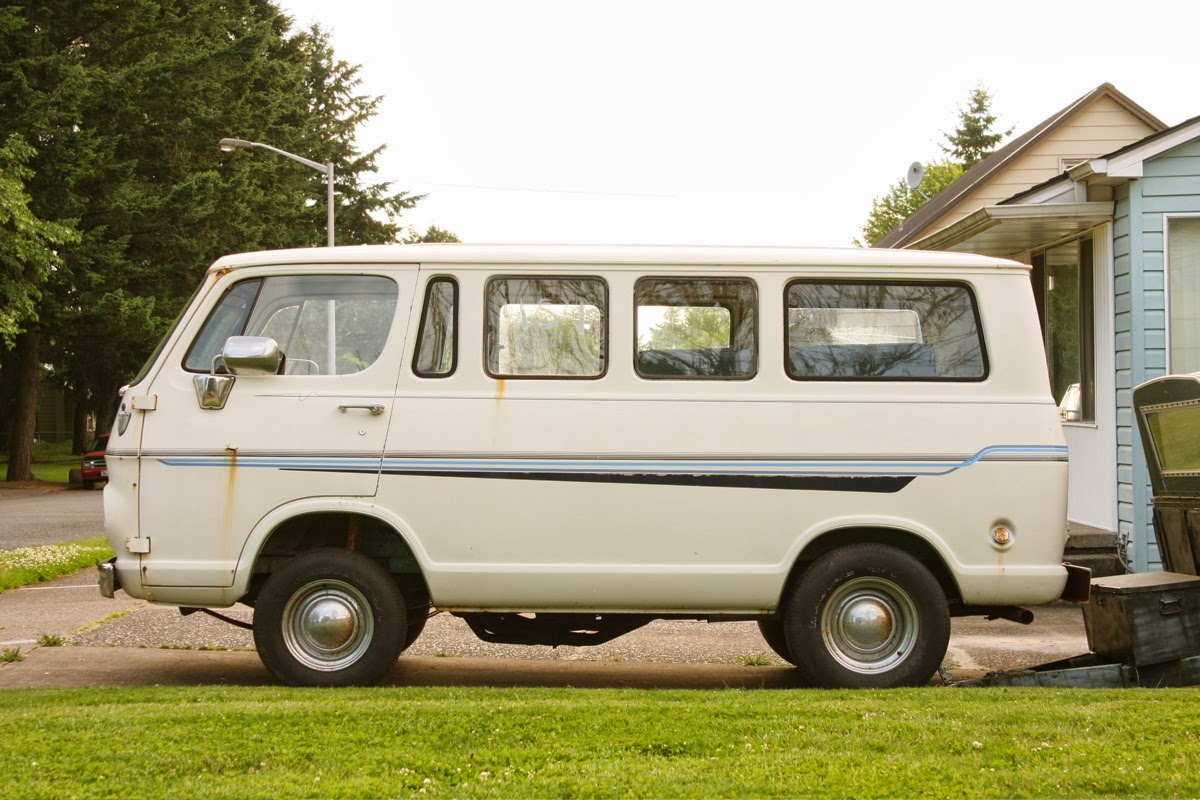 old parked cars 1965 chevy van. Black Bedroom Furniture Sets. Home Design Ideas