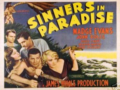 Sinners in Paradise Vintage Film Poster Featuring Madge Evans, John Boles, with Bruce Cabot