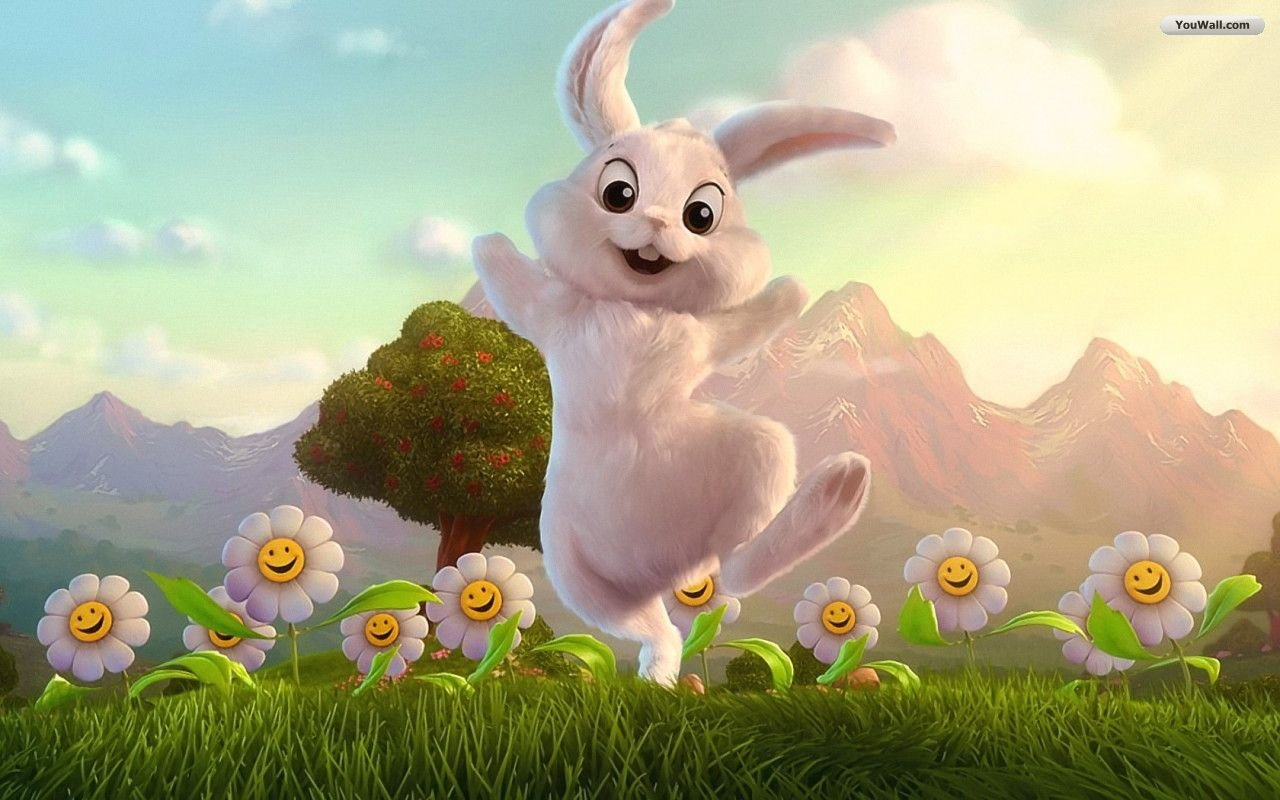 Download Free Wallpapers: Happy Easter Bunny Wallpaper