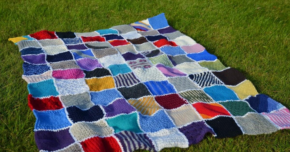 se hvordan du kan strikke dette megakoselige teppet