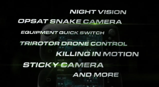 Wii U GamePad being used to play Tom Clancy's Splinter Cell: Blacklist