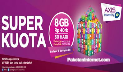 Daftar Paket Internet AXIS Super Kuota