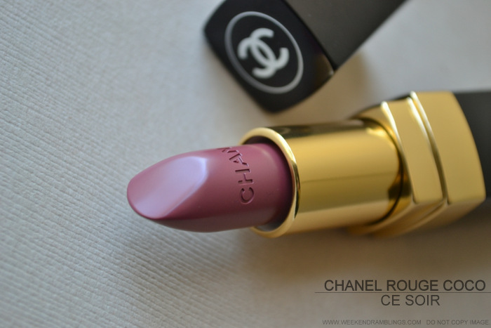 Chanel Ce Soir Rouge Coco Lipstick - Avant Premiere de Chanel Makeup Collection - Swatch Review Photos FOTD
