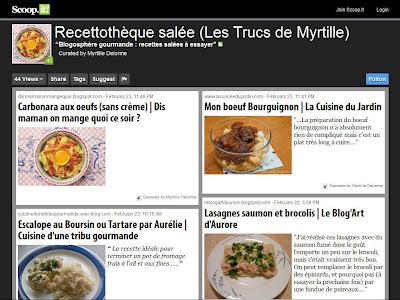 La blogosphère gourmande de Myrtille : recettes salées à essayer (sur Scoop.it!)