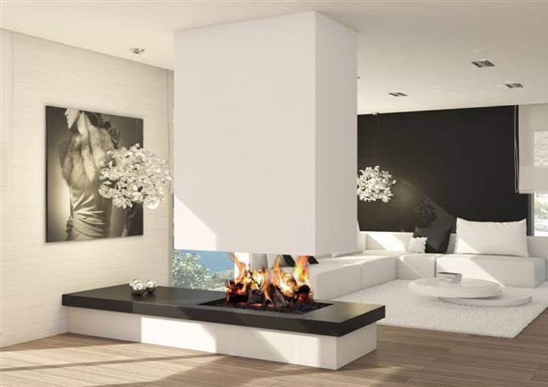 Design para lareiras modernas assuntos criativos - Chimeneas de pared modernas ...