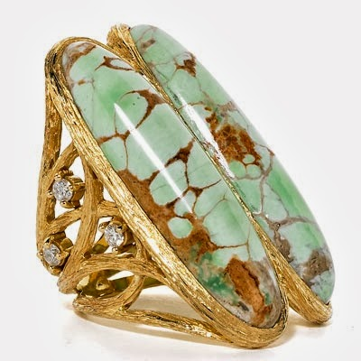 The Most Beautiful  Double Surfer Variscite Ring