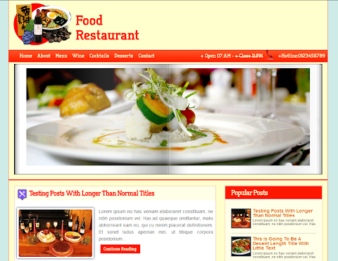 Restaurant Mag Blogger Theme