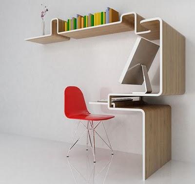 Escritorio para espacios reducidos sillas y escritorios for Escritorios para espacios pequenos