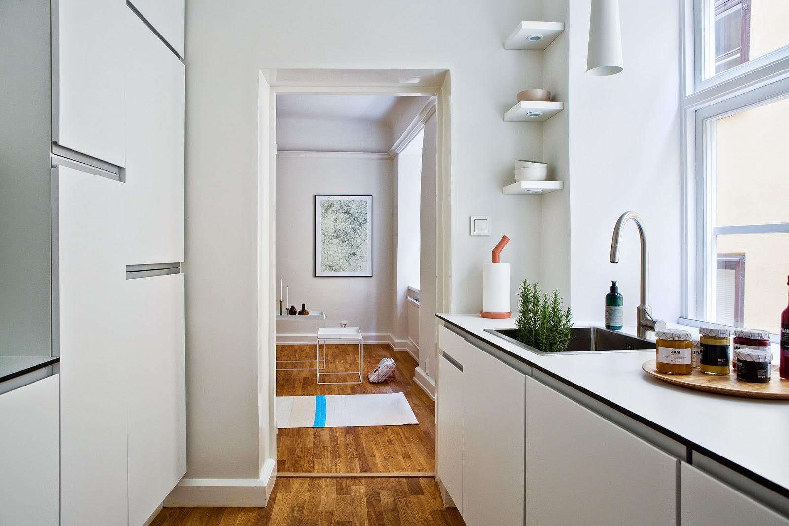 La Petite Fabrique De Rêves: Stockholm : Un Studio Moderne Dans Les  #75451B 1600 1067 Cucine Scandinave
