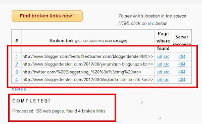 Blogger Seo - Kırık Link Bulucu