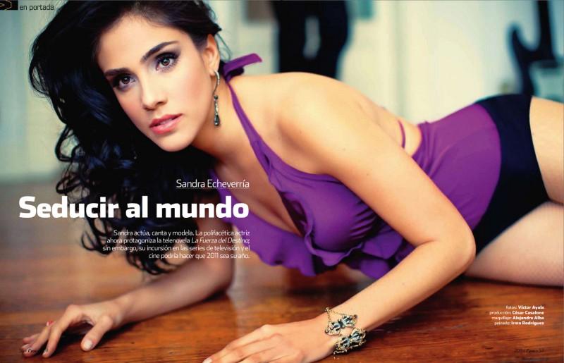 Fotos de Sandra Echeverria en la Revista Open
