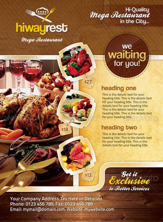 60 Contoh Desain Brosur Makanan Ayeey Com