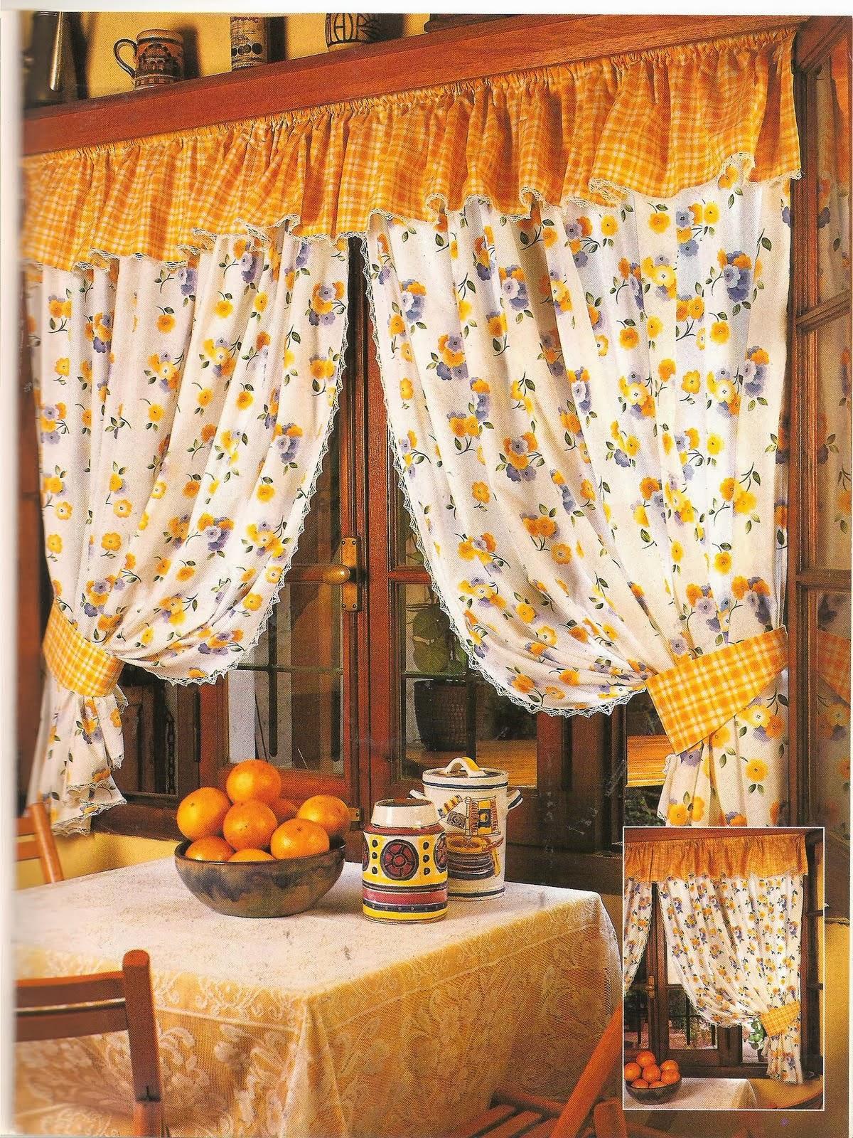 Como hacer cortinas revistas de manualidades gratis - Cortinas en cocinas ...
