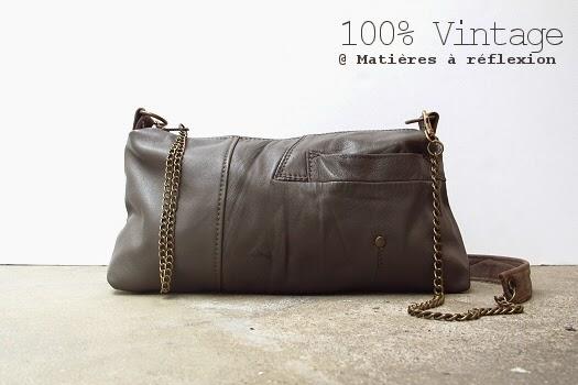 nouvelle collection Matières à réflexion Sac en cuir vintage Louxor