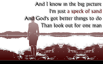 God Must Be Busy - Brooks & Dunn Song Lyric Quote in Text Image