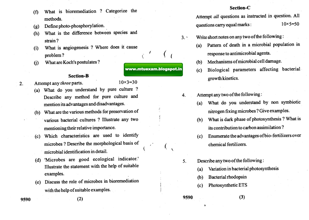 syllabus for bio and microbio In view of the increasing demand for training manpower in the area of microbiology, genetic engineering and biotechnology, it was consensus of the committee (faculties & experts) that this course should be broad based and should be able to give a good insight into modern biology and important component of hands-on.