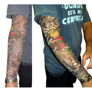Cool Japanese Shirt Sleeve Tattoo Design