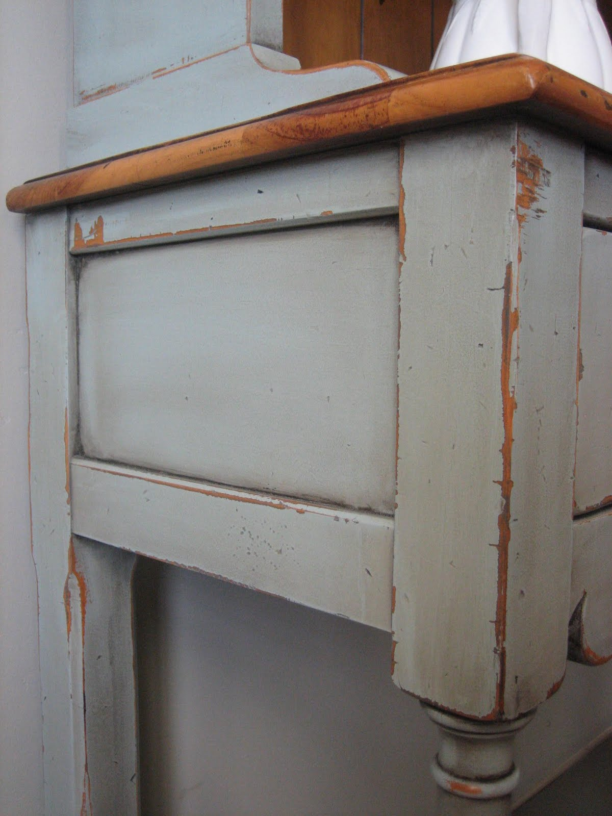 hutch china cabinet thomasville refinished furniture repurpose ...