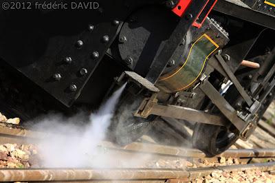 train vapeur  vintage  locomotive AJECTA Longueville Seine-et-Marne