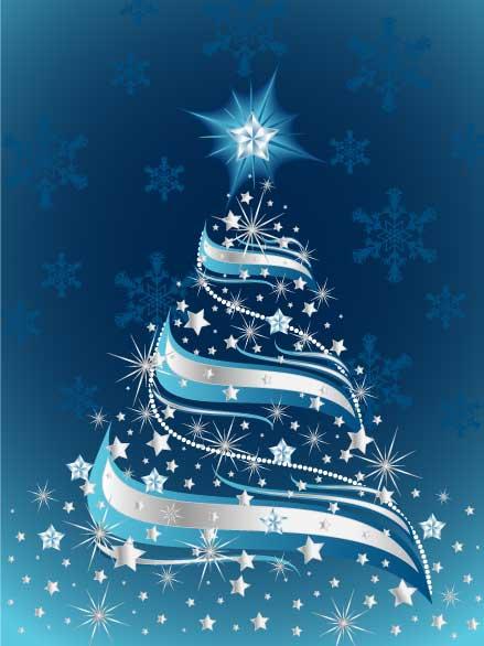 Arbol De Navidad Azul  Dibujos De Navidad  Imagenes De Navidad