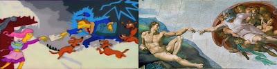 Stworzenia Adama, Michał Anioł