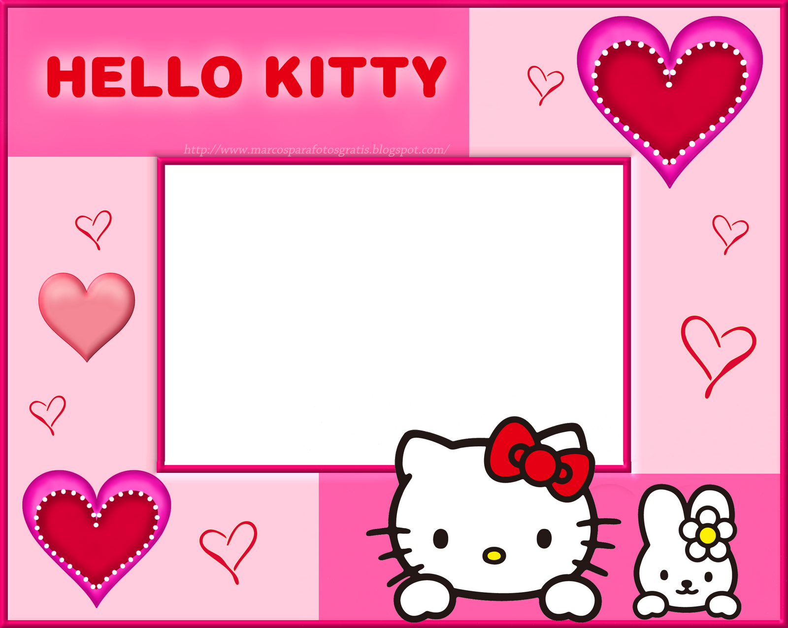 MARCOS PARA PHOTOSHOP Y ALGO MAS: HELLO KITTY