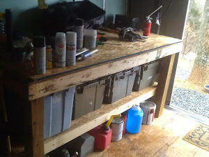 The workbench all ready in use.