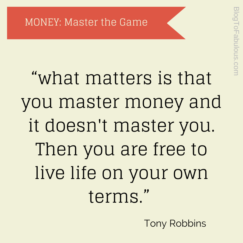 Financial Freedom Quotes Cool Blog To Fabulous Tony Robbins  Money Master The Game 7 Simple