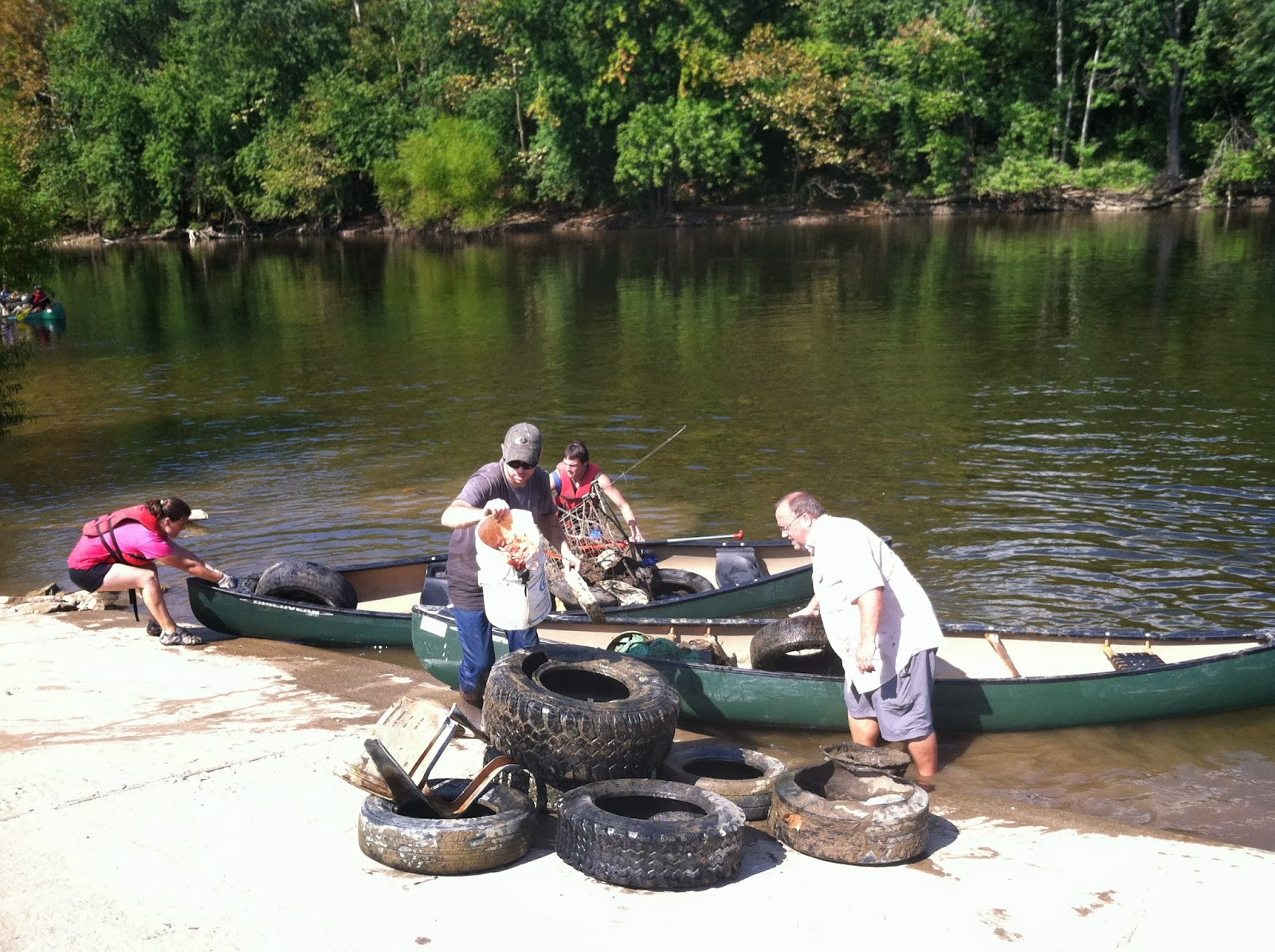 another 140 tires and a dump truck full of debris were collected from the upper james river water trail this last week this was the 5th year the river