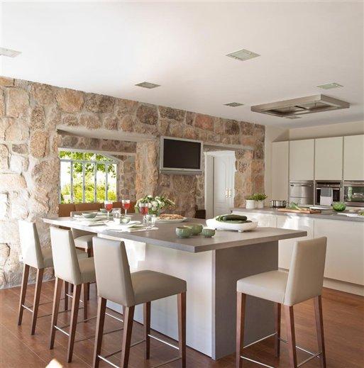 Decoraci n f cil paredes de piedra - Paredes de cocina sin azulejos ...