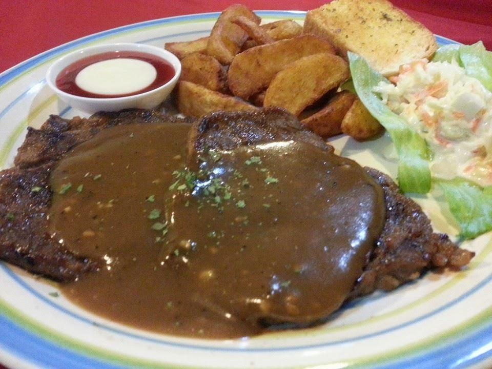 de perahu cafe,beef steak,western food,makanan sedap