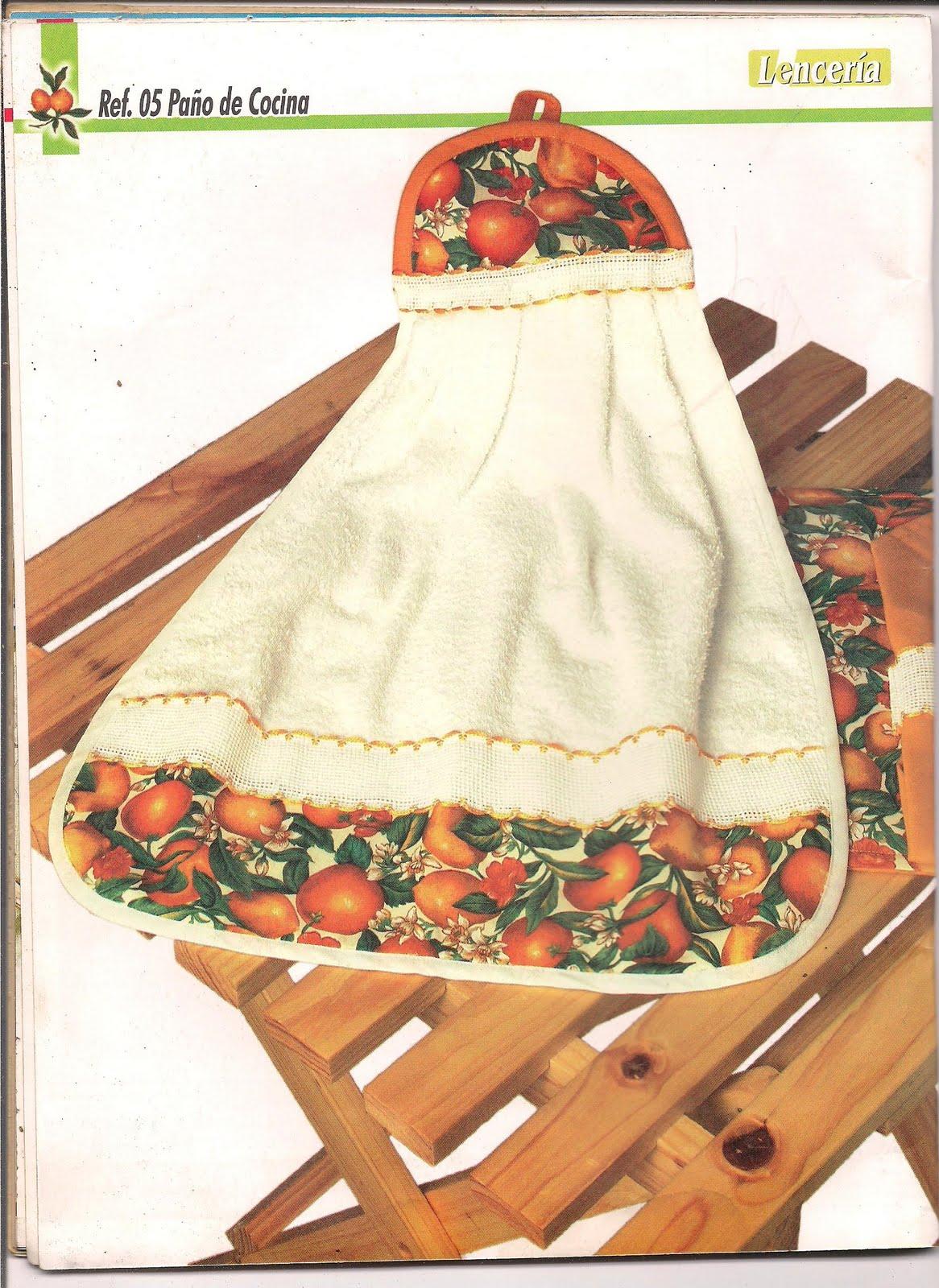 El blog de flor mar y ojito lencer a para la cocina por - Manualidades en tela paso a paso ...