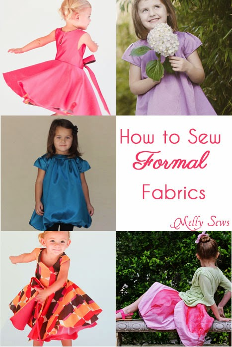 Free sewing tutorial for formal fabric sewing