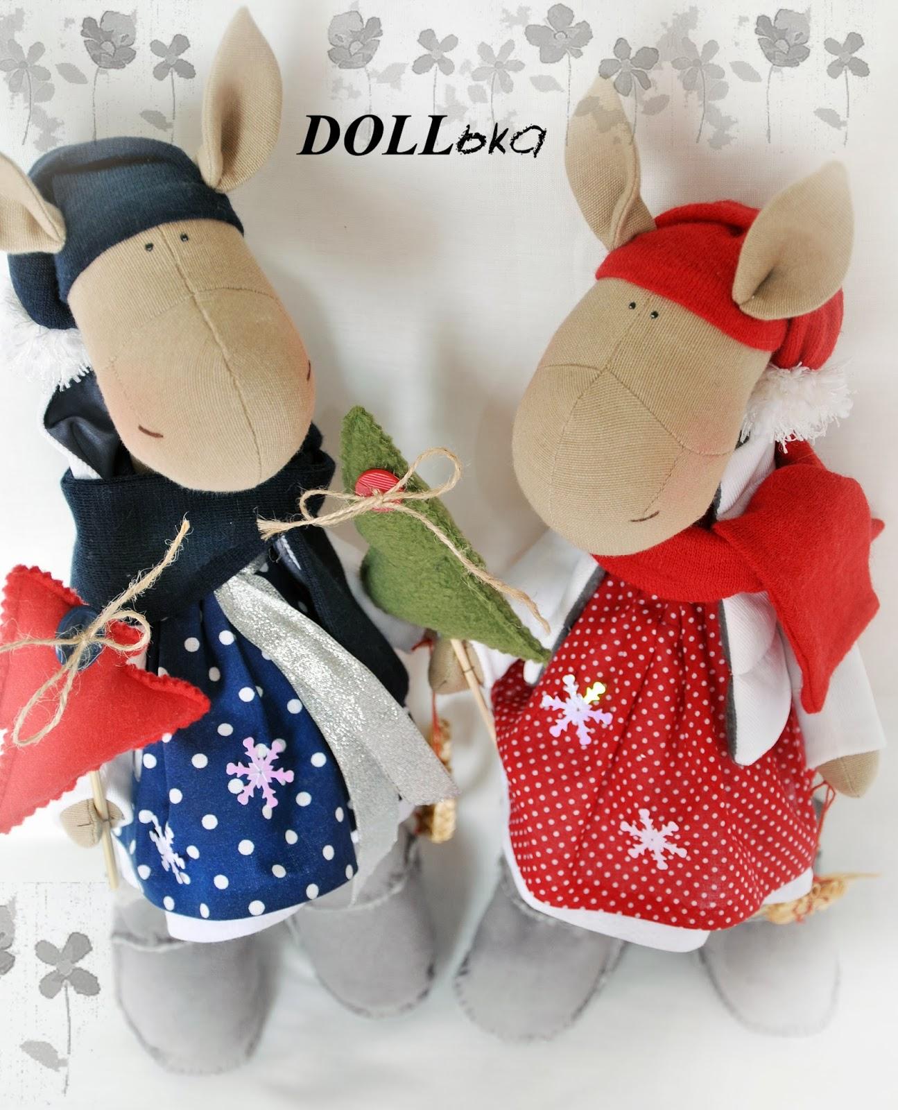 лошадка новогодняя текстильная игрушка ручной работы