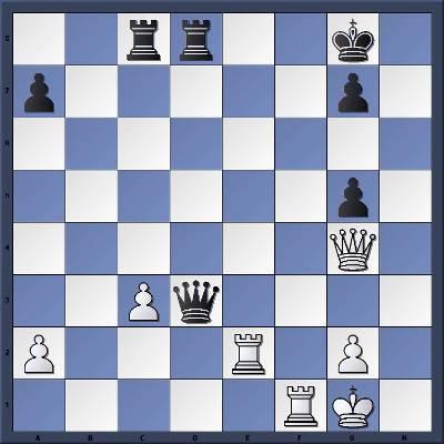 Les Blancs jouent et gagnent en 2 coups