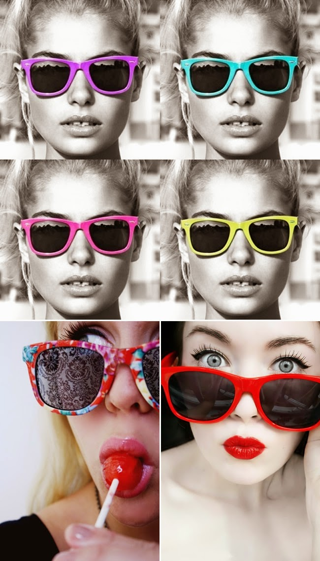 colorful ray ban sunglasses