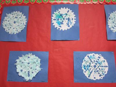 the pa-paw patch, winter theme, preschool winter theme, kids snowflake crafts
