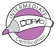 I am an Intermediate Copic Certified Designer