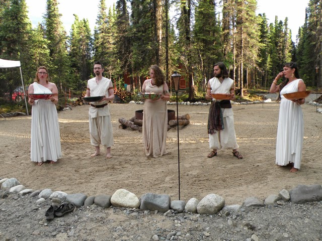 Animas Ceremony Officiants in the flesh. Photo credit Papa Faunus.