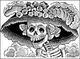 Calavera Catrina - Symbol am Tag der Toten in Mexiko