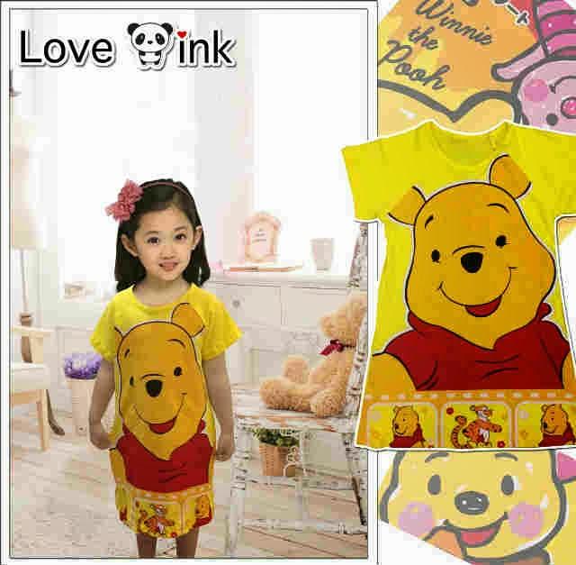 Dress Kids Pooh.Love Ink.