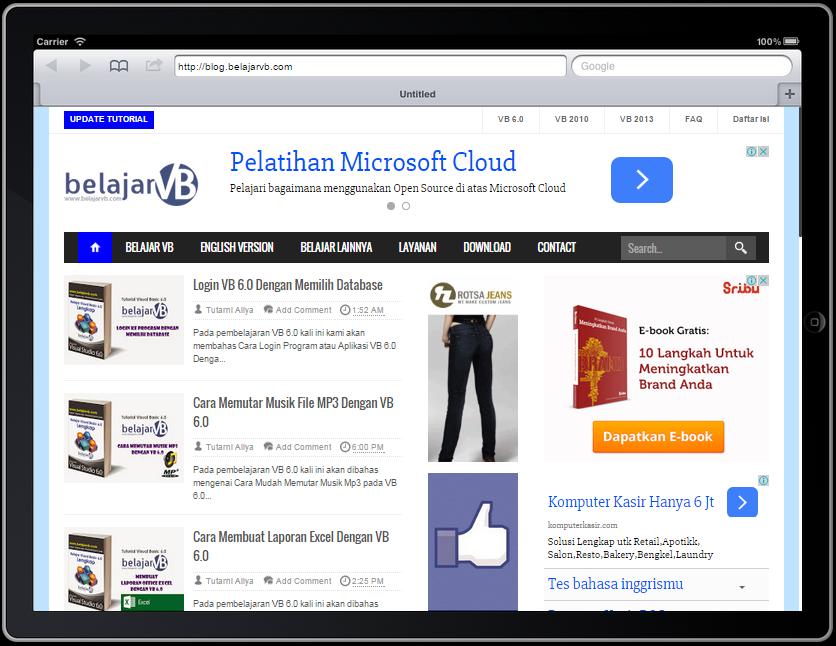 Cara Melihat Web Dari Ipad Online