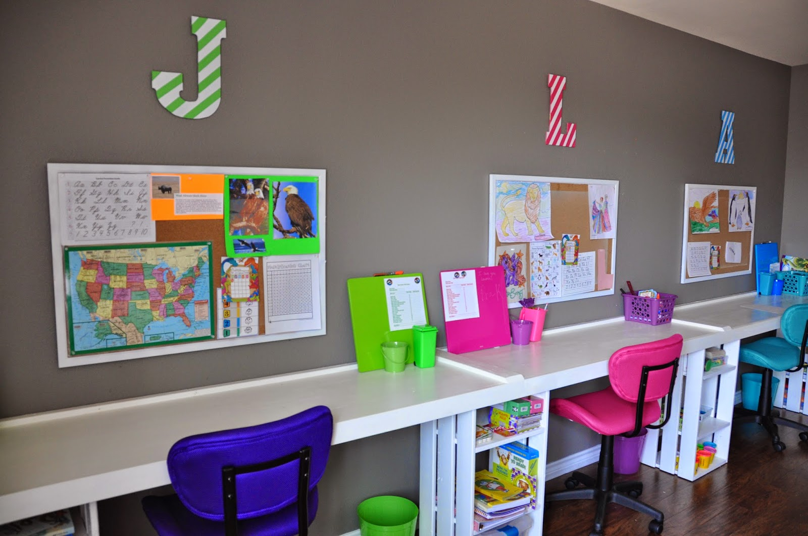 Classroom Workstation Ideas ~ Right where we are home school classroom successful