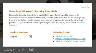 Microsoft Security Essentials: Antivirus Gratis Seumur Hidup