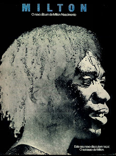 """propaganda disco (LP) """"Milton"""" de  Milton Nascimento - 1977.  os anos 70; propaganda na década de 70; Brazil in the 70s, história anos 70; Oswaldo Hernandez;"""