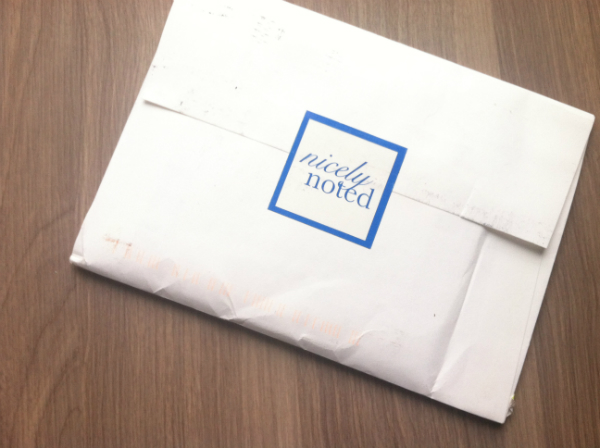 Nicely Noted - November 2012 Review - Monthly Paper and Stationery Subscription Service