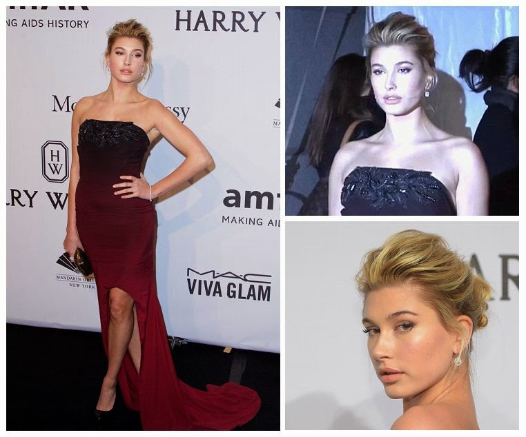 Wearing a strapless gown by Cabriela Cadena, the 18-year-old, Hailey Baldwin ensured that all eyes were on her as she strolled down into the amfAR Gala at New York City on Wednesday, February 11, 2015.