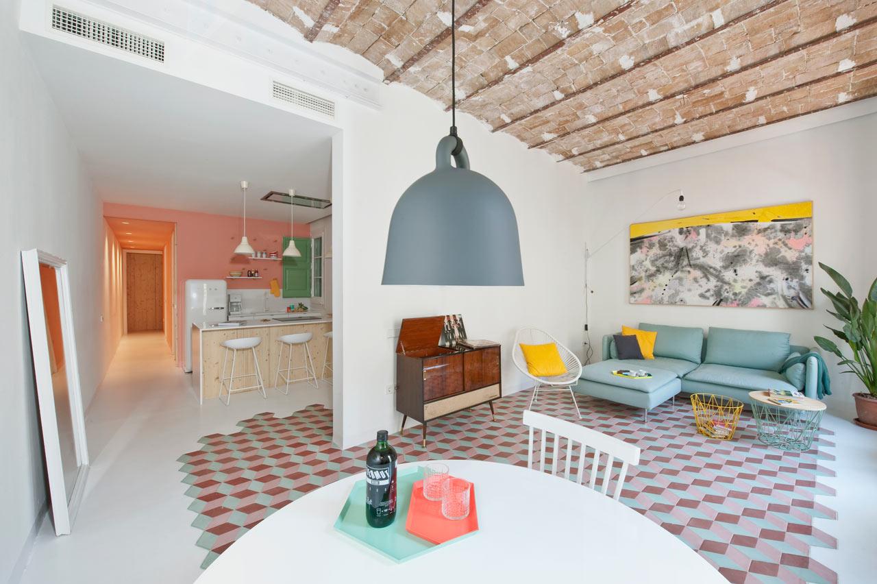 Diseño interior de apartamento turístico en Barcelona - ilia estudio ...