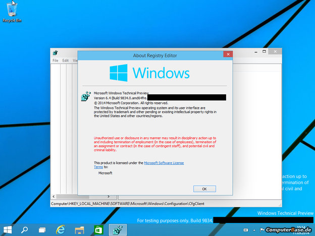 windows 6.4 build 9834