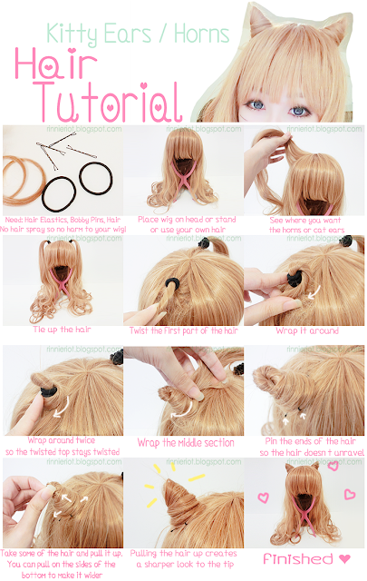 Hair Kitty Ears - Horns Tutoral